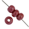 1/0 Rocaille 6.6mm Opaque Dark red Lustered